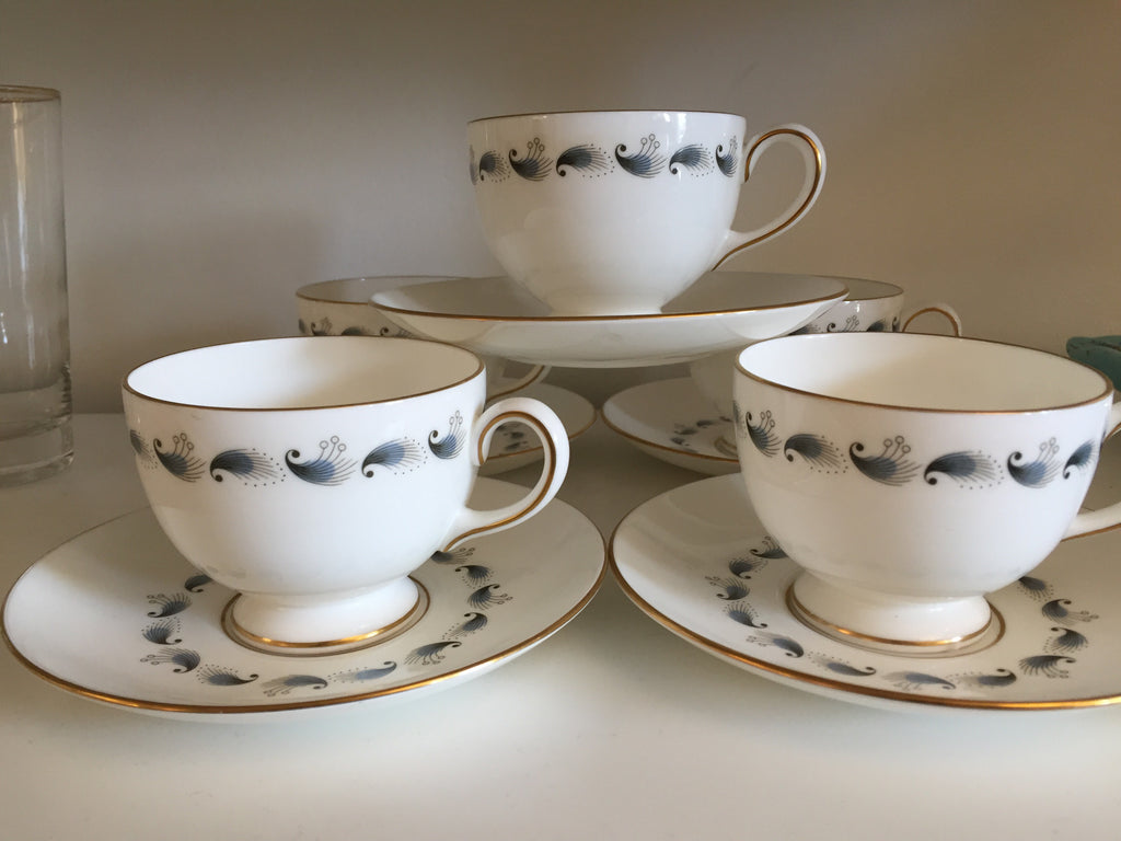 1960s Wedgwood Stardust Tea cups