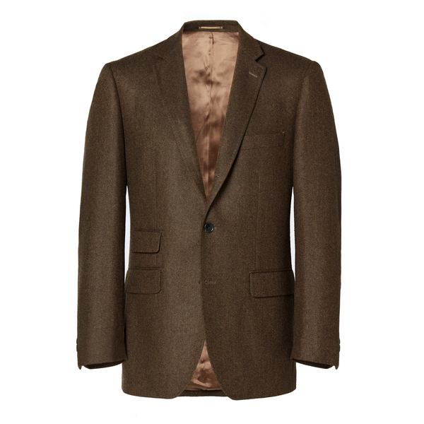 Mason & Sons | BROWN HERRINGBONE TWEED JACKET