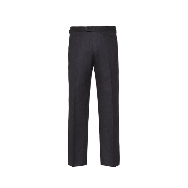 Mason & Sons | SLIM-FIT FLANNEL TROUSERS IN CHARCOAL