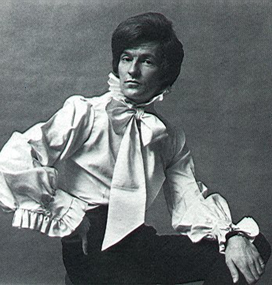 Lord Lichfield modeling Mr Fish clothes (1971)