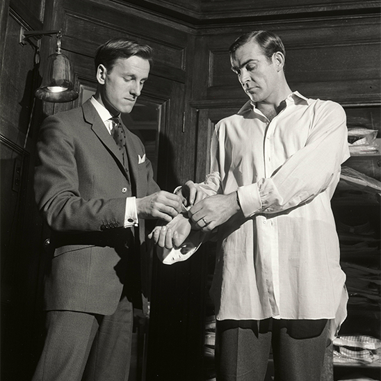 Michael Fish and Sean Connery at Turnbull & Asser (1961)
