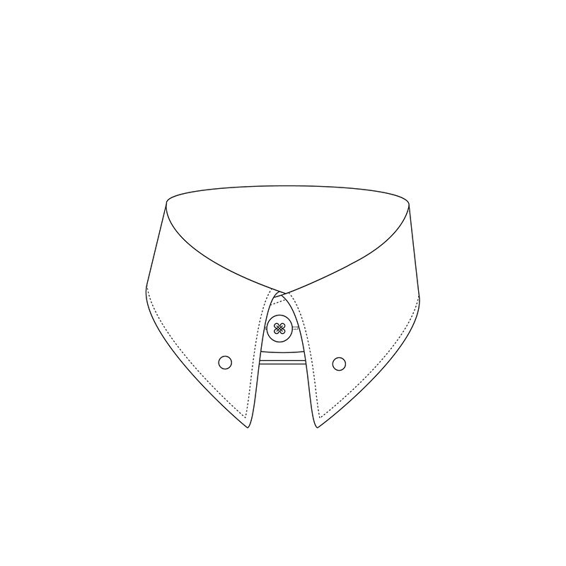 Pin 1807 6cm shirt collar
