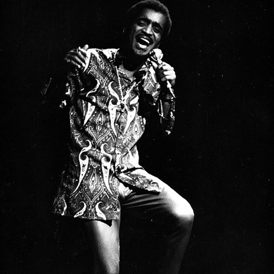 Sammy Davis Jnr performing in a Mr Fish kaftan