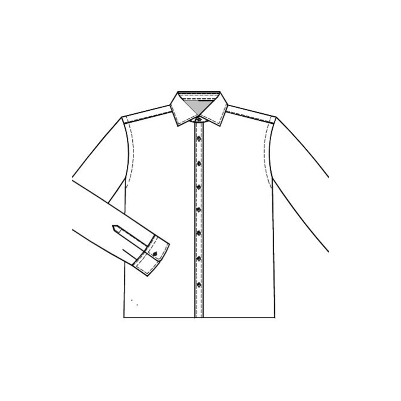 Shirt front placket B