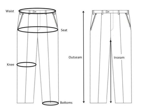 Measuring Size Guide Trousers