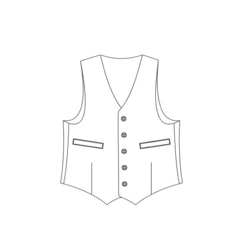 Welted waistcoat chest pocket