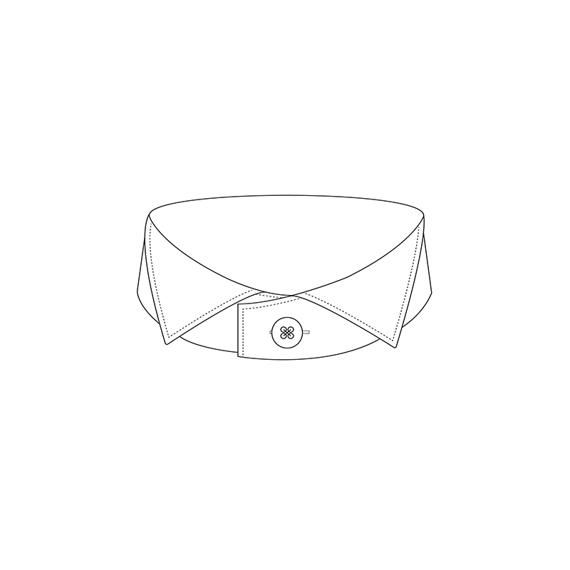 Wing 1000 5cm shirt collar