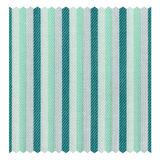 Mason & Sons | Green & Mint Multicolour Bengal-Stripe Fine Twill (2 Fold 80's) -2
