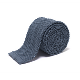 Anthony Sinclair Airforce Blue Knitted Necktie | Mason & Sons -1