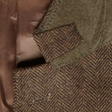 Brown Herringbone Tweed Jacket