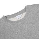 Mason & Sons | Sunspel Loopback Sweatshirt in Grey Melange -2