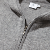 Mason & Sons | Sunspel Cashmere Zip Hoody in Grey - 2
