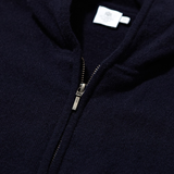 Mason & Sons | Cashmere Zip Hoody in Navy - 2
