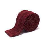 Anthony Sinclair Claret Knitted Necktie | Mason & Sons -1