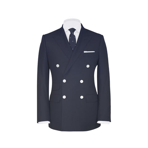 Conduit Cut 3 Piece Suit Solid Navy