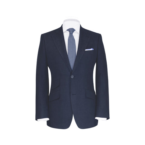 Conduit Cut Suit Jacket Mid-Grey Sharkskin