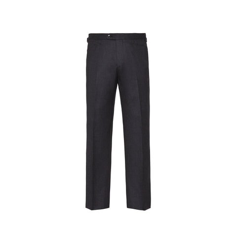 Slim-Fit Flannel Trousers
