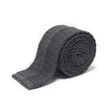 Anthony Sinclair Charcoal Knitted Necktie | Mason & Sons -1