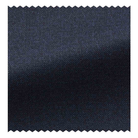 12.5 oz Super 120's Midnight Blue Plain Weave