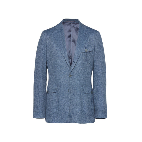 Unstructured Silk/Linen Gauze Sport Coat