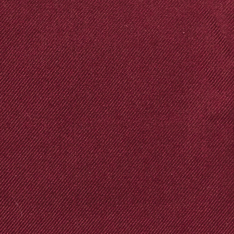 Personalised Silk Pocket Square in Wine Red