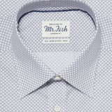 Mr. Fish Grey and White Reverse Polka Dot Shirt  |  Anthony Sinclair - 2