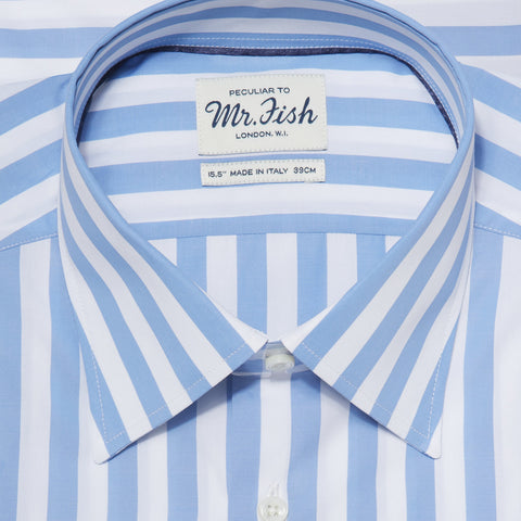 Sample Blue and White Bengal Stripe Shirt
