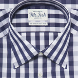 Mr. Fish Navy and White Gingham Check Shirt  |  Anthony Sinclair - 2