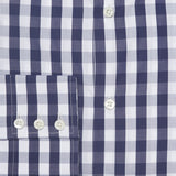 Mr. Fish Navy and White Gingham Check Shirt  |  Anthony Sinclair - 3