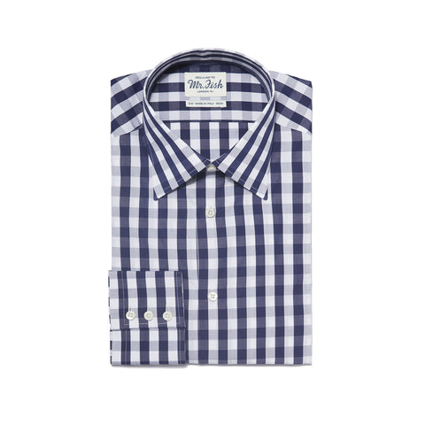 Sample Navy and White Gingham Check Shirt