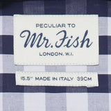 Mr. Fish Navy and White Gingham Check Shirt  |  Anthony Sinclair - 4