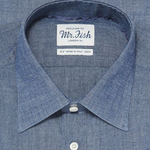 Sample Japanese Indigo Chambray Shirt