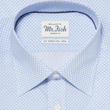 Mr. Fish Blue and White Reverse Polka Dot Shirt  |  Anthony Sinclair - 2