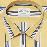 Mr. Fish Black and Yellow Gradation Stripe Shirt  |  Anthony Sinclair - 2