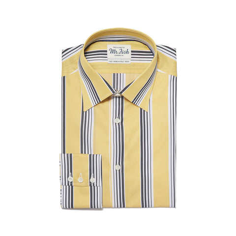 Sample Black and Yellow Gradation Stripe Shirt