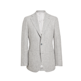 Mason & Sons | Motoluxe Unstructured Alpaca Blazer in Light Grey - 1