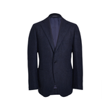 Mason & Sons | Motoluxe Unstructured Alpaca Blazer in Midnight Blue Melange - 1