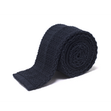 Anthony Sinclair Navy Knitted Necktie  |  Mason & Sons - 1