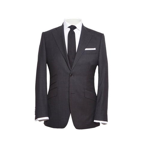 Conduit Cut 2 Piece Suit Charcoal Sharkskin