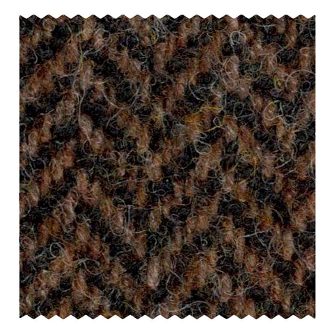 Brown Herringbone Tweed Jacketing