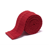 Anthony Sinclair Scarlet Knitted Necktie  |  Mason & Sons - 2