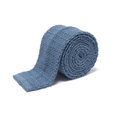Anthony Sinclair Sky Blue Knitted Necktie | Mason & Sons -1