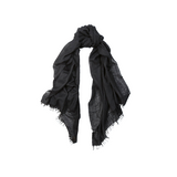 Mason & Sons | Begg & Co Staffa Lightweight Cashmere and Silk Scarf in Black -1