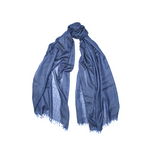 Mason & Sons | Begg & Co Staffa Lightweight Cashmere and Silk Scarf in Electric Denim -1