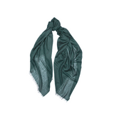 Mason & Sons | Begg & Co Staffa Lightweight Cashmere and Silk Scarf in Emerald Green -1