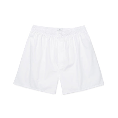 Cotton Poplin Long-Cut Boxer Shorts