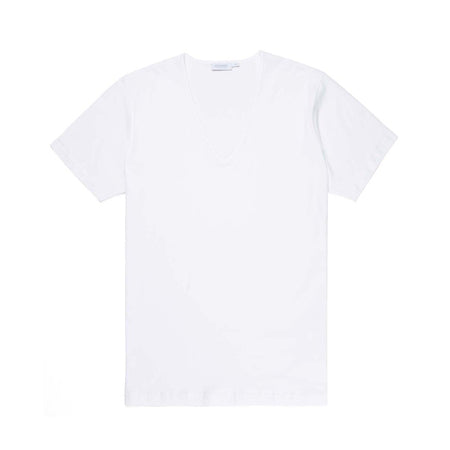 Superfine Cotton Low V-Neck T-Shirt