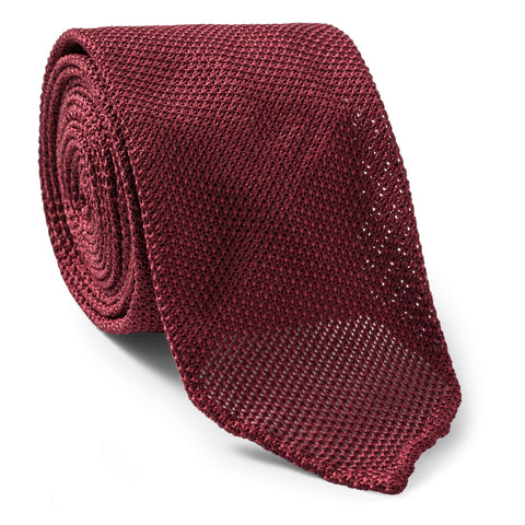 Made To Order Grenadine Tie in Wine Red