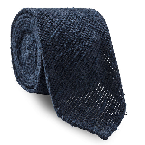 Made To Order Shantung Tie in Navy