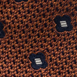 Made To Order Jacquard Tie in Rust Brown Modern Flower